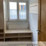 Schreinermeisterei Garderobe Holz Möbelbau Glas nach Mass Regal Schuhregal vom Schreiner
